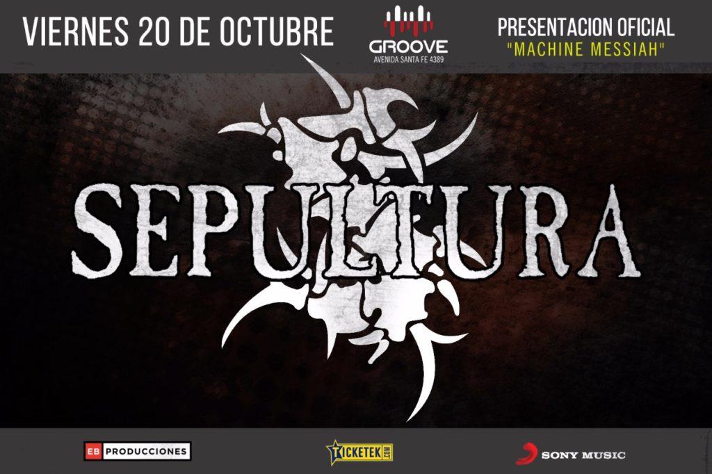 Flyer Sepultura Groove